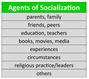 GOVT 2305 Government Agents of Socialization Chart