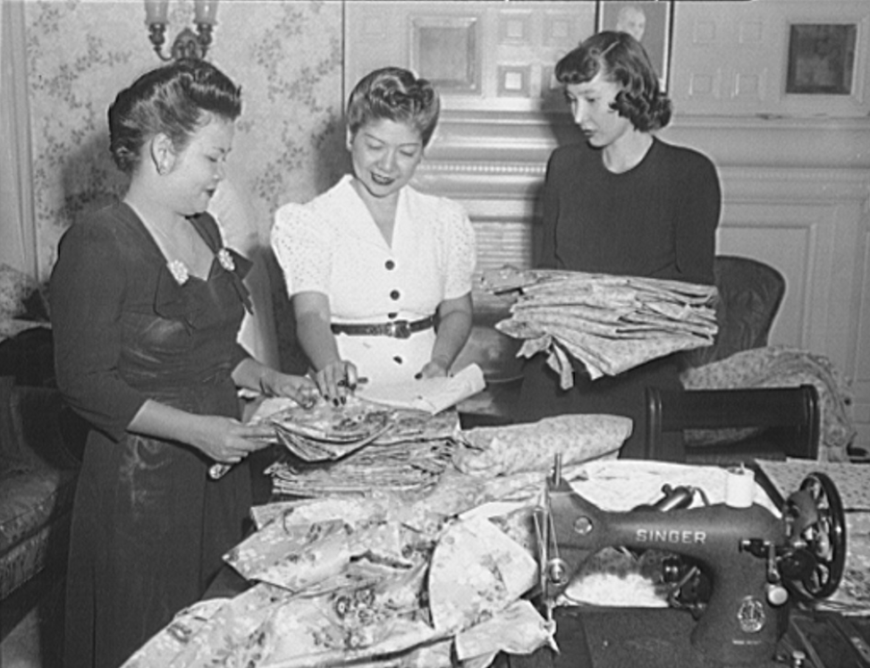 Filipino Womens Club Meeting Washington, D.C. 1944, Library of Congress,https://www.loc.gov/resource/fsa.8d42581/
