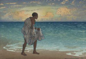 Hawaiian fisherman, Bartlett, Charles William, 1860-1940, artist; LCCN Permalink https://lccn.loc.gov/92512980