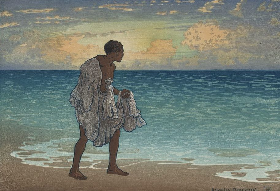 Hawaiian fisherman by Charles William Bartlett, 1860-1940, artist; LCCN Permalink https://lccn.loc.gov/92512980 at the Library of Congress.