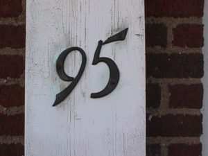 A house number: 95