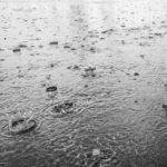 it rains (a lot) / it is raining
