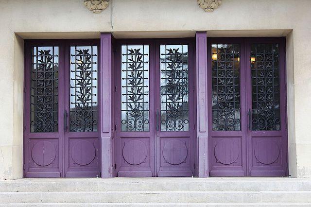 purple doors