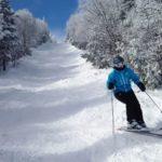 ski (in the snow)