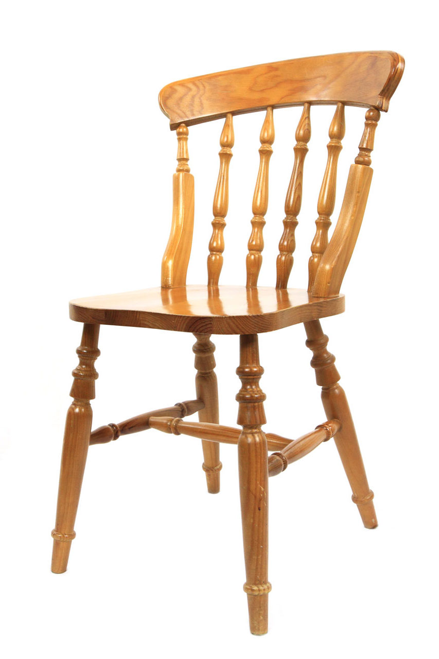 a wooden chair