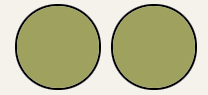 Search results showing two distinct circles, representing double the amount of search results.
