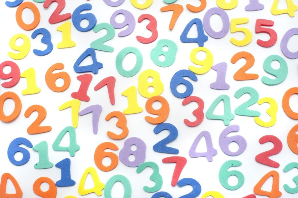 a collage of several numbers