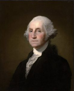 A portrait of George Washington by Gilbert Stuart