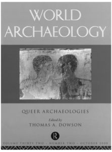 cover of World Archaeology special issue featuring a photo of a relief sketch of two men in profile