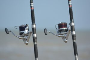 Two fishing rods.