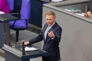 A politician at a debate.