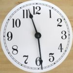 Clock showing 11:29