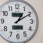 Clock showing 1:10