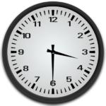 Clock showing 3:30