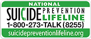 National Suicide Prevention Lifeline 800-273-8255