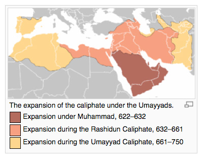 Early islamic art and mosque architecture introduction to art umayyad 661750 map showing islam gumiabroncs Choice Image