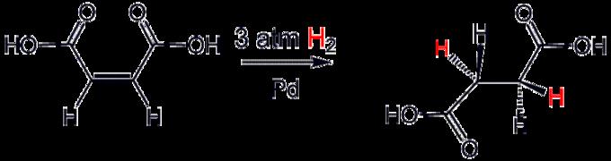 succpdh2 - Hidrogenación catalítica de Alquenos