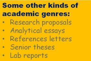 genres of academic writing
