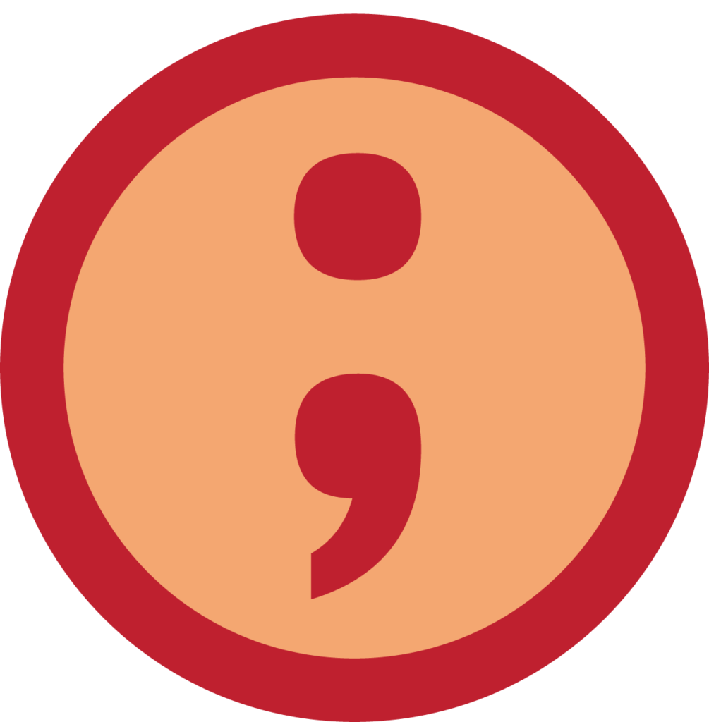 an icon showing a semicolon
