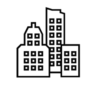 Icon of 3 city buildings