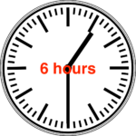 clock with the words '6 hours' superimposed over it