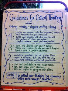 Critical thinking when writing