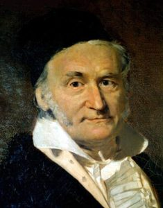 painting of Gauss
