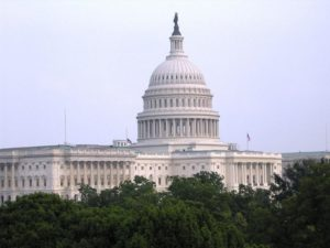 Photo shows an external view of the U.S. Capitol Building in Washington, D.C.