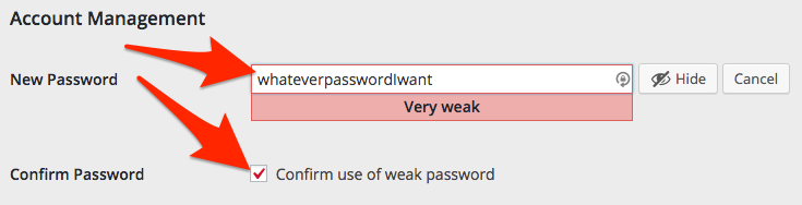 Lumen platform custom password view