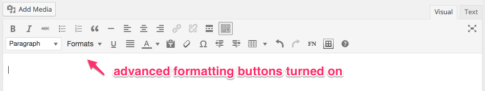 Candela toolbar showing advanced formatting buttons