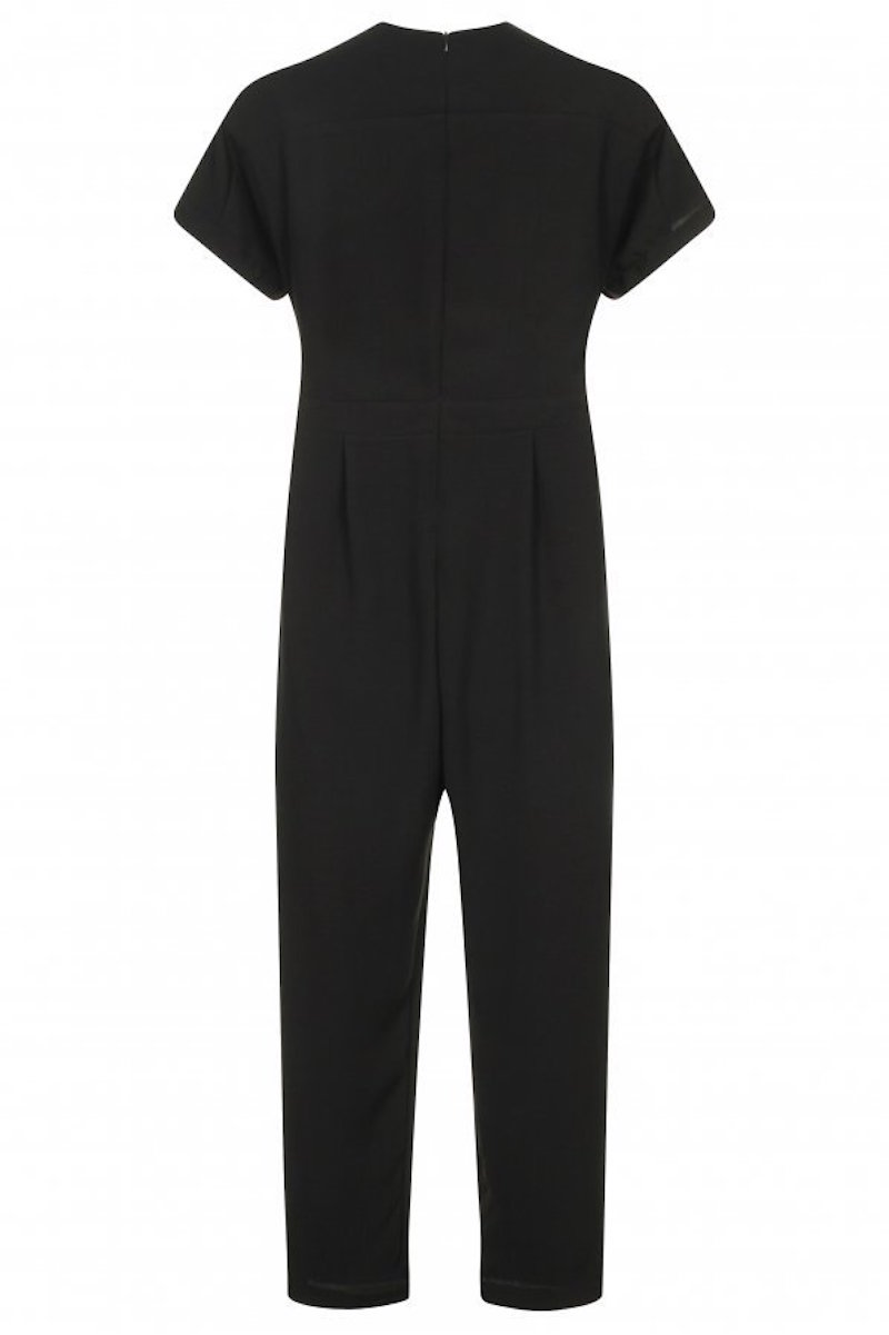 contemporary plus size black jumpsuit elvi