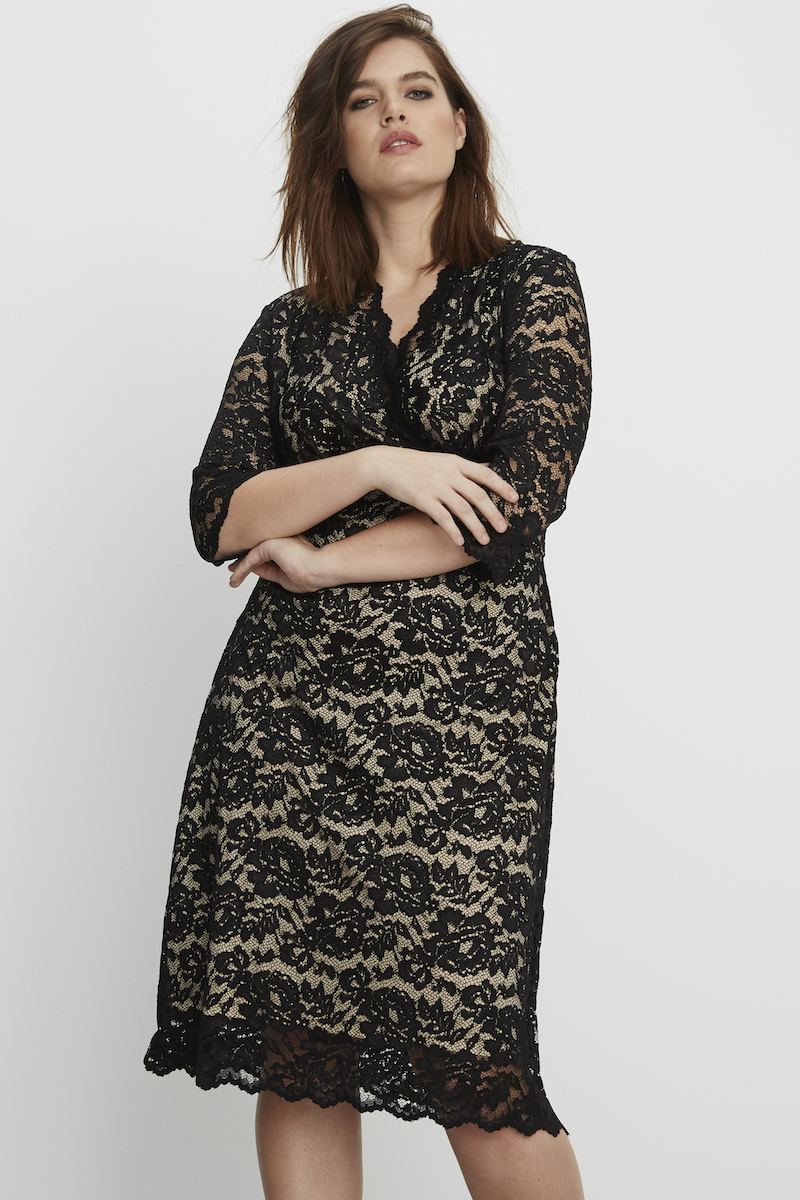 modern plus size lace dress