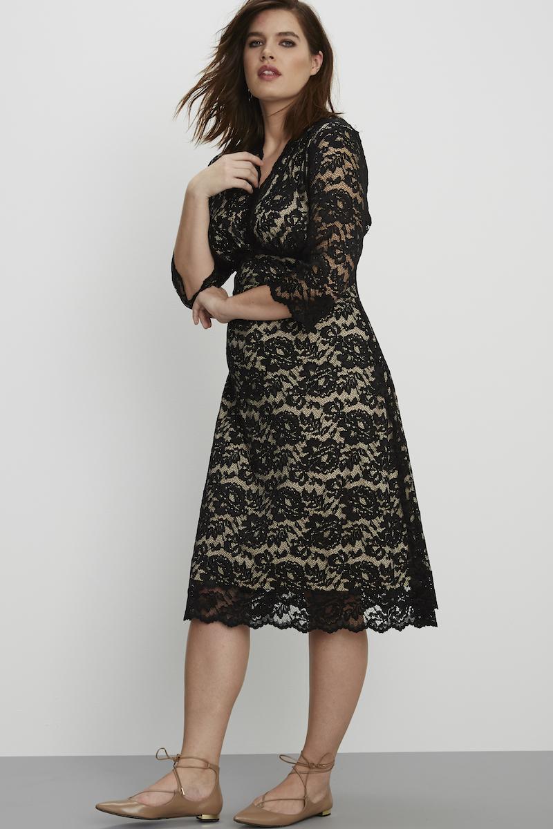 black cocktail lace dress