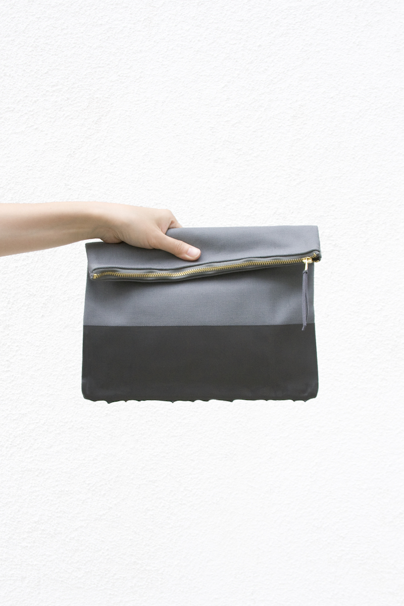 wrk-shp paint dipped clutch grey