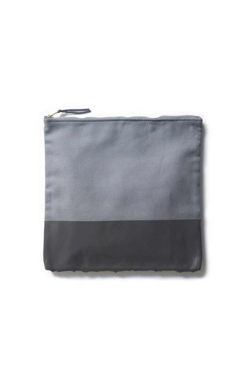 wrkshp paint dipped clutch grey