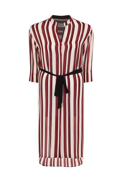 plsu size elvi stripe shirt dress coverstorynyc