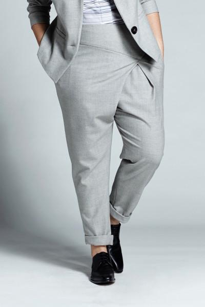 shegul plus size wrap front pant