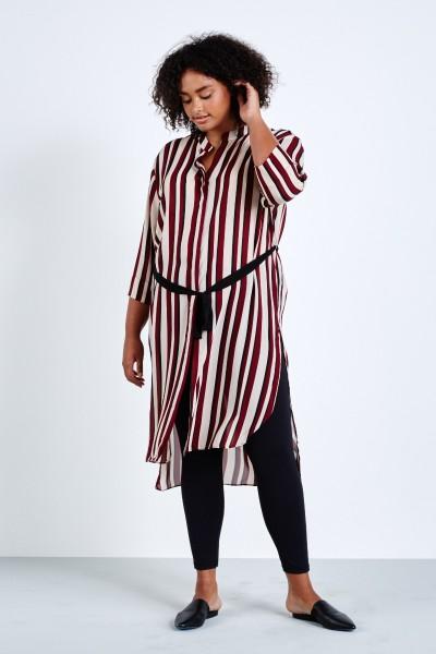 elvi stripe shirtdress