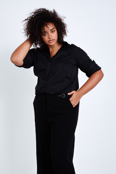 Coverstory plus size universal standard elbe shirt black