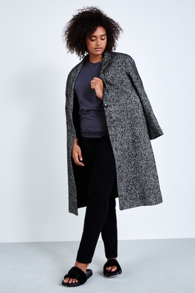 CoverstoryNYC Elvi plus sized tweed coat black