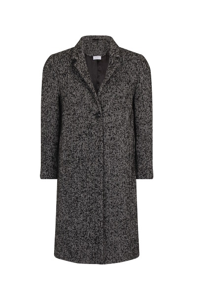 Elvi oversized tweed coat coverstory black