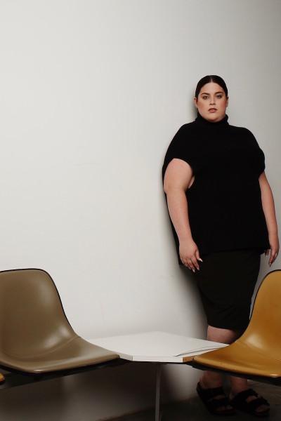 coverstory plus size universal standard hudson cashmere cape black