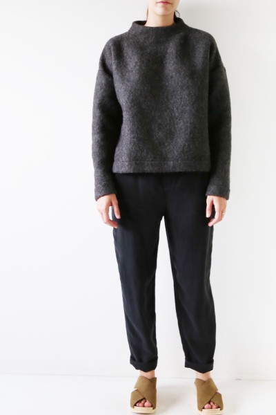 HDH Charcoal Mockneck Sweater plus size Coverstory