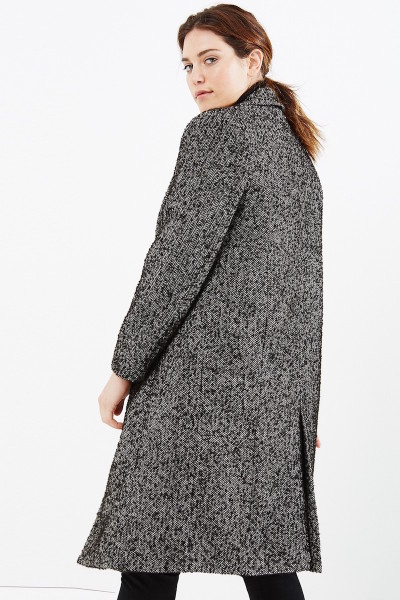 Elvi plus size tweed coat coverstorynyc