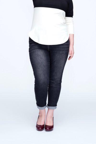 universal standard seine jeans distressed black