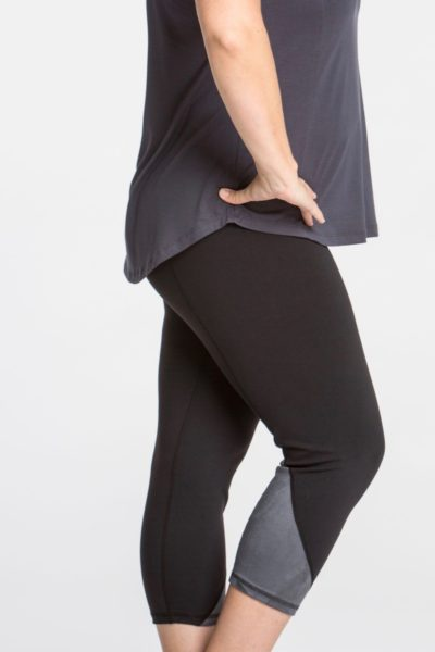 lola getts skinny colorblock plus size capri black charcoal