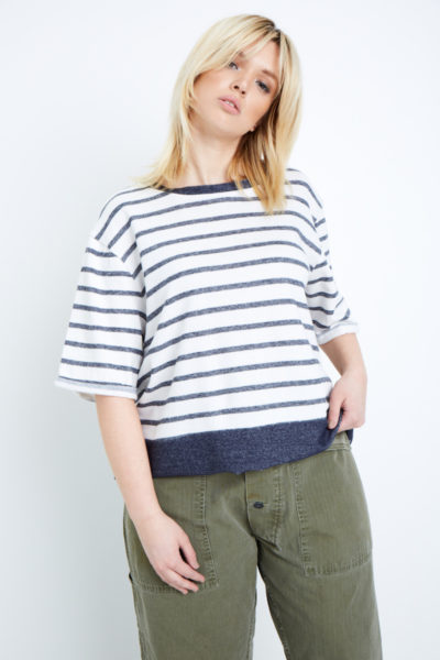Elvi striped sweatshirt plus size coverstory
