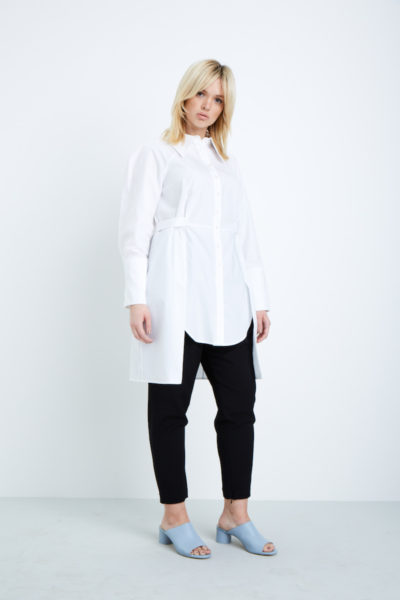 Shegul Kailee Cotton Tunic plus size white