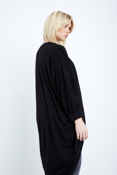 Shegul Mia cocoon cardigan black plus size Coverstory
