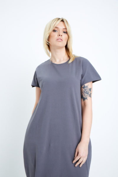 universal standard geneva dress anchor grey plus size coverstory